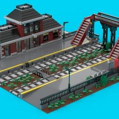 Lego Train Station, Lego Trains, Modern Windows, Lego Projects, Cool Lego, Lego Ideas, Lego City, Basic Colors, Hello Everyone