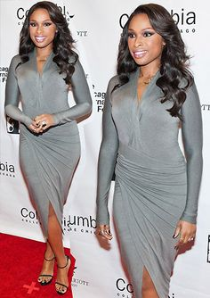 Buy Prom Dresses Online Short, Long Prom Dresses 2020 at Couture Candy. Find 2020 new best collection Hot Sexy Prom Dresses on Cheap affordable price or with heavy Discount. Grey Fashion, Love Fashion, Fashion Outfits, Celebrity Makeup Looks, Celebrity Style, Black Nativity, Grey Style, Jennifer Hudson, Prom Dresses Online