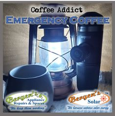 With all the Loadshedding and powercuts you got to have an emergency coffee plan or you could just switch to solar. Coffee Beans, Coffee Cups, Solar Geyser, Appliance Repair, Coffee Addiction, I Love Coffee, Bergen, Keurig, Solar Energy