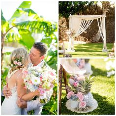 When our bride asked for a romantic and soft tropical design in pastels…we were inspired! Cheers to Lorenzo and Rachel recently married at the Old Lahaina Lu'au. This wedding celebration was created by Patty Flax of WOW. Mahalo to WOW Event Designer Carolee Leadem Higashino, Joanna Tano Photography, Della Peacock and Jeanne Givens-Mckay of Dellables, Pat from Cravings Bakery, Rev. Kimo Kirkman, The Old Lahaina Lu'au, and Paradise Event Rentals.