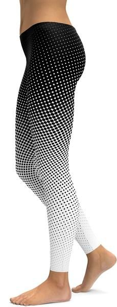 B&W Halftone Leggings