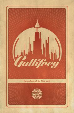 Doctor Who Gallifrey Retro Avante Garde 11x17 Poster by TheArtEye