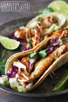 Jamaican Jerk Chicken Tacos #foodporn #tacos #gameday http://livedan330.com/2014/10/19/jamaican-jerk-chicken-tacos/