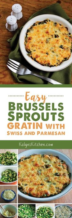 Easy Brussels Sprouts Gratin with Swiss and Parmesan found on KalynsKitchen.com