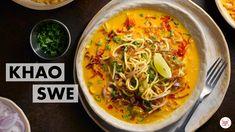 Khao Suey Recipe, Make Coconut Milk, Food Lab, Oriental Food, Chicken Gravy, Burmese, Thai Red Curry, Chicken Recipes, Vegetarian