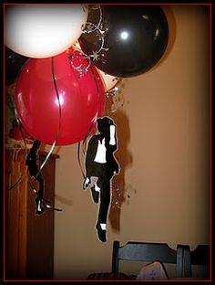 Michael Jackson balloon decorations