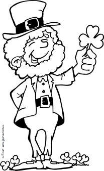 Printable st patricks day leprechaun coloring pages for kids. Print out st patricks day leprechaun coloring pages for preschool.free clipart st patricks day leprechaun for kids