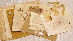 Wie kann man Papier alt aussehen lassen - Anleitung-dekoking-5