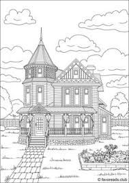 house and front garden coloring page - BúsquedadeGoogle House Colouring Pages, Coloring Sheets, Coloring Books, Printable Adult Coloring Pages, Disney Coloring Pages, House Drawing, To Color, Cool Drawings, Princess Coloring