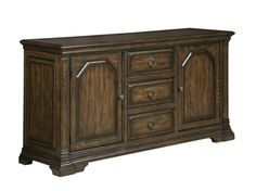 Solid wood buffet sideboard from the Berwick Court collection by Kincaid. New for #hpmkt Spring 2015.