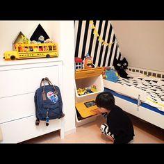 hirooomiiiさんの、finelittleday,IKEA,子供部屋,こども部屋,白黒,froq,squ ,カンケンミニ,Bedroom,のお部屋写真