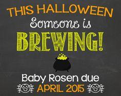 Halloween Pregnancy Announcement Chalkboard by PersonalizedChalk, $10.00