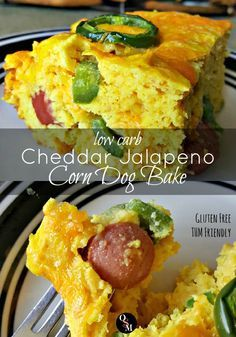 Cheddar Jalapeno Corn Dog Bake | Oh Sweet Mercy #lowcarb #thm #recipes #ohsweetmercy