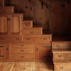 Stairs with drawers by Dittekarina
