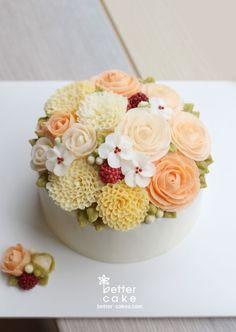 [베러케익 정규클래스 후기] 깜찍한 버터크림플라워케익 - 공덕마포케이크/베이킹클래스많은 수강생분들이 사랑하시는옐로와 오렌지 컬러의Blossom 버터크림케이크예요 :)&...