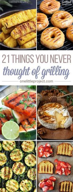 Switch things up this summer and throw some of these things you never thought of grilling on the barbecue while your meat cooks These look soooooo good Grilled donuts Ser. Summer Grilling Recipes, Grilling Tips, Summer Recipes, Vegan Grilling, Recipes For The Grill, Weber Grill Recipes, Barbecue Recipes, Grill Meals, Desserts On The Grill
