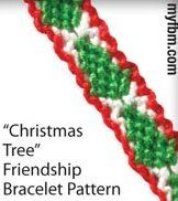 This Christmas Tree Friendship Bracelet Pattern is a fun project for kids and adults alike!