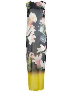 Opulent Bloom print cover up - Black | Swimwear & Beachwear | Ted Baker