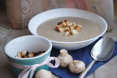 Cream-soup with champignons / Chief-Cooker Slovak Recipes, Czech Recipes, Creamed Mushrooms, Stuffed Mushrooms, Cream Soup, Soups And Stews, Soup Recipes, Cooker, Oatmeal