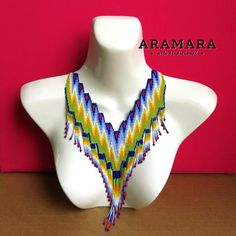 Etsy :: Your place to buy and sell all things handmade The Snake, Collar Redondo, Mexican Hairstyles, Huichol Art, Mexican Jewelry, Hair Beads, Trendy Accessories, Vintage Bohemian, International Fashion