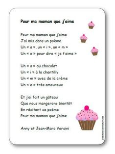 Song For my mom whom I love by Anny and Jean-Marc Versini - Illustrated lyrics - Nursery rhyme For my mom whom I love from Versini Mother Poems, Mother And Father, Diy For Kids, Crafts For Kids, French Poems, Love Mom, Mothers Day Crafts, Nursery Rhymes, Special Day