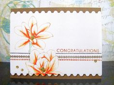 Blooms and Watercoloring Distress Ink, Congratulations, Card Making, Bloom, Stamp, Watercolor, Flowers, Magnolias, Cards