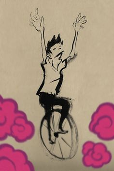 [christian.yamao] on a #unicycle . Let it roll ( #art ) christianyamao