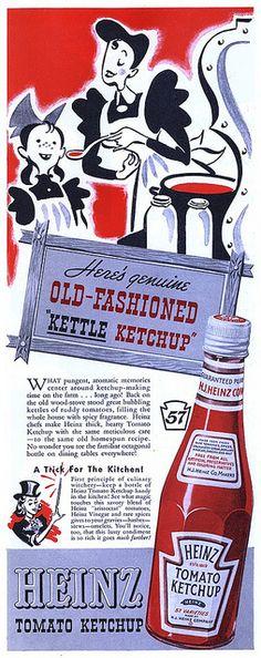 Heinz Ketchup ~ Vintage Ad