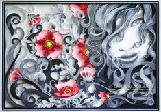 Original Paper Quilling Wall Art The girl and by QuillingbyLarisa Art Quilling, Quilling Designs, Quilled Creations, Wandkunst, Office Paper, Handmade Decorations, Wedding Paper, Paper Paper, Paper Wall Art