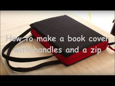 How to make a handbag style cover for a book, with a zipper Crochet Book Cover, Crochet Books, Easy Sewing Projects, Sewing Tutorials, Sewing Ideas, Make A Book Cover, Bible Bag, Bible Cases, Notebook Covers