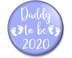 25mm Novelty Gift Fathers Day I Love My Dad Heart Badge 1 inch