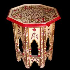 Hand Painted Moroccan Table For The Home Pinterest