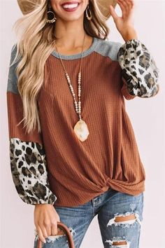 Spotlight On You Top in Rust and Leopard