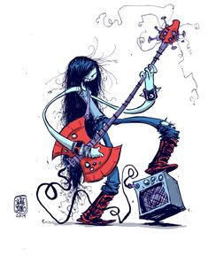 skottieyoung:  #DailySketch Marceline from Adventure Time Original sketch available in my shop http://skottieyoungstore.bigcartel.com