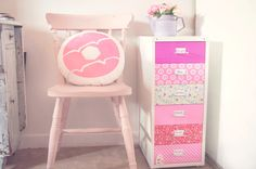 JillyJilly: Fun Mini Filing Cabinet Makeover