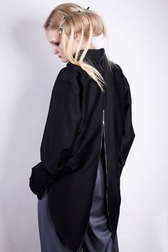 Sshirt of black silk