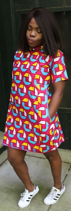 Items similar to Free Ankara Shirt Dress on Etsy African Dresses For Women, African Print Dresses, African Print Fashion, Africa Fashion, African Fashion Dresses, African Attire, African Wear, African Women, Fashion Prints