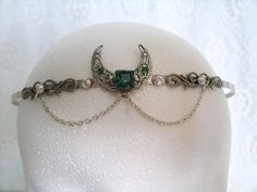 Priestess Circlet, wiccan jewelry crown victorian goth gypsy witch pagan gothic magic mystic witchcraft metaphysical new age. $32.00, via Etsy.