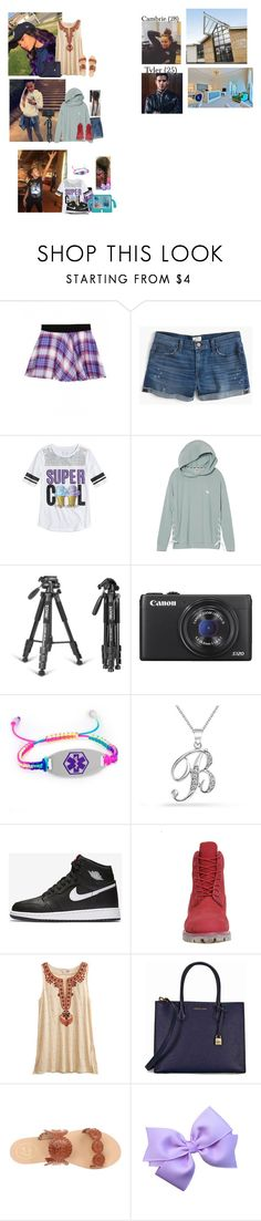 """""""Saturday// Meeting Brazil's therapist. Filming a video for my channel"""" by thecollinfamily ❤ liked on Polyvore featuring J.Crew, Victoria's Secret, Bling Jewelry, NIKE, Timberland, Calypso St. Barth, Michael Kors, Jack Rogers and Makininfamily"""