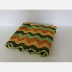 Hand Crocheted Chevron Afghan, $70, now featured on Fab.