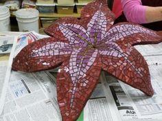 Katrina Doran's amazing mosaic flowers