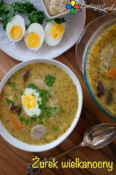 Żurek wielkanocny Easter Recipes, New Recipes, Holiday Recipes, Soup Recipes, Cooking Recipes, Healthy Recipes, Polish Recipes, Soups And Stews, Main Dishes