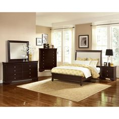 shelby 6 piece king bedroom set. normandy 6-piece king bedroom set in merlot shelby 6 piece