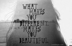 different is beautiful quotes positive quotes black and white beautiful girl life quote lake