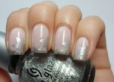 Nail Stories: Silver Glitter French Mani & Born Pretty M71 Plate Review