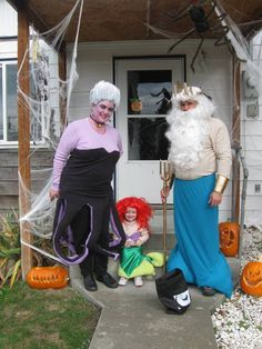 Little mermaid Ursula and King Trident & Pin by Patti Finnerty on Everything Halloween | Pinterest | Sibling ...