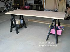 Quick Tip {Inexpensive, Collapsible Workbench}