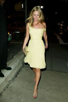 11 Trends Kate Moss Made You Want So Bad #refinery29  http://www.refinery29.com/2015/01/80876/kate-moss-trends#slide-2  That Yellow Dress When Moss wore this dress at an AnOther magazine party in New York in 2003, it touched off a literal media frenzy. Everyone wanted to know where they could get it, but they couldn't because it was vintage, of course. Luckily, Moss threw us all a bone by replicating it a few years later for Topshop.