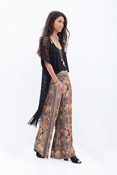 Abstract Printed Wide-Leg Pants | FOREVER21 - 2052886624