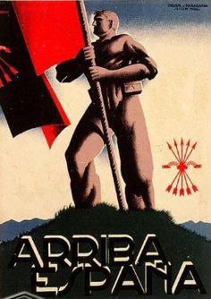 Spain - 1936-39. - GC - poster - Arriba España (Bando Nacional)